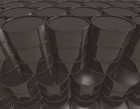 Infinite stack of petroleum barrels - digitally generated wallpaper Stock Photo - 5392311