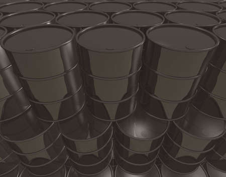 Infinite stack of petroleum barrels - digitally generated wallpaper Stock Photo - 5392311