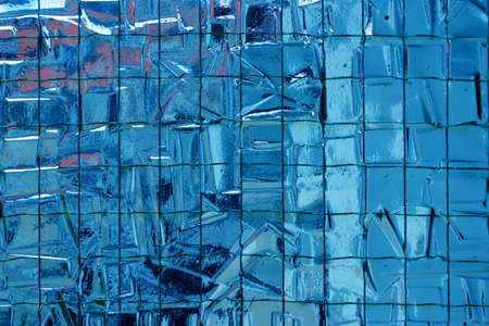 glass partition: Reinforced irregular semi transparent blue glass partition texture