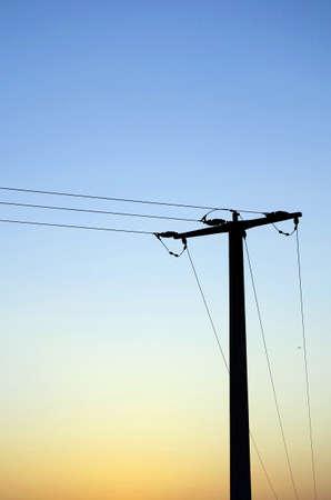 Pylon during sundown