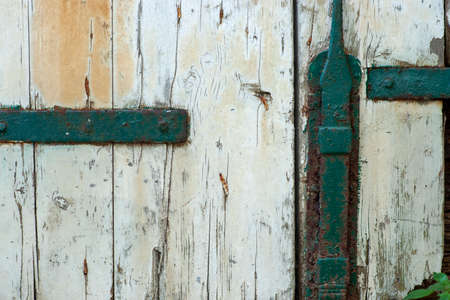 Close up of Old white wooden door background Stock fotó