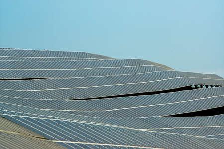 Solar panels in the Tuscan countryside Zdjęcie Seryjne