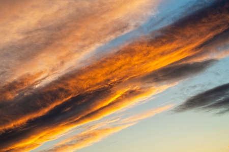 A glimpse of beautiful clouds at sunset Imagens