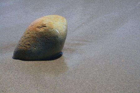 immobile: Sasso sulla spiaggia di Cagliari Stock Photo