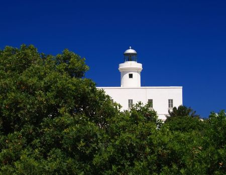 ferro: Lighthouse of Capo Ferro - Sardegna - Porto Cervo Stock Photo