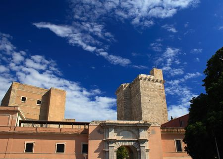fortezza:   Torre S.Pancrazio, Cagliari Stock Photo