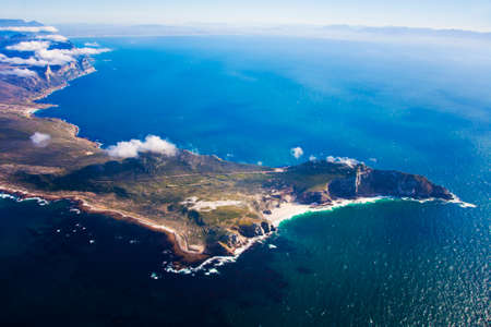 Aerial of Cape Point, Cape Town, South Africa