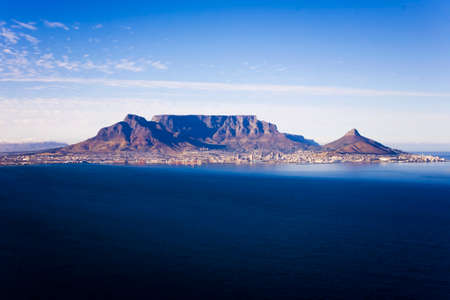 Aerial view of Table Mountain, Cape Town, South Africa Standard-Bild
