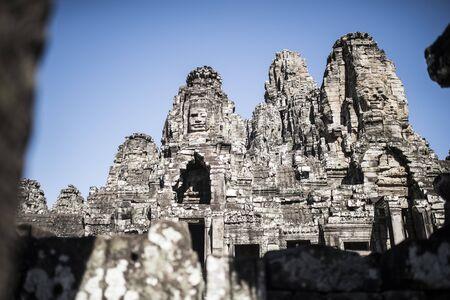 Ruins of ancient Angkor Wat in Cambodia Stock Photo