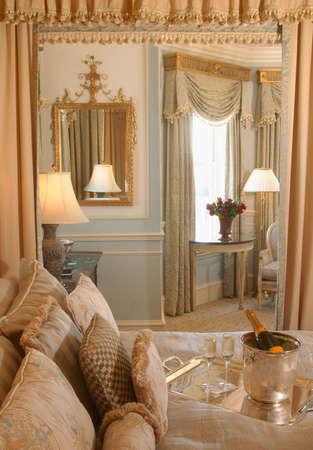 Beautiful luxury five-star honeymoon vacation suite. photo