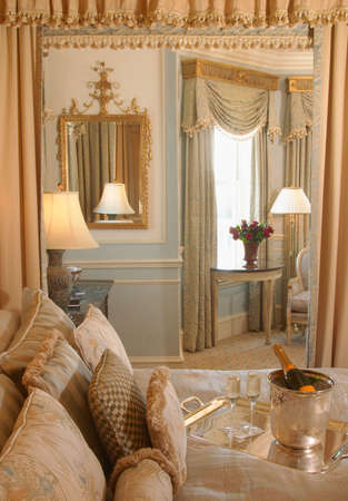 suite: Beautiful luxury five-star honeymoon vacation suite.