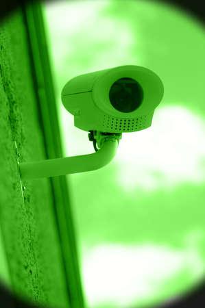 nightvision: Nightvision of surveillance camera on building