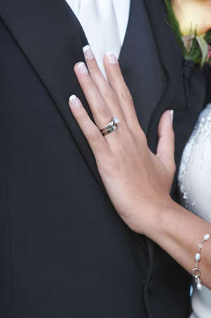 fidelity: Wedding Ring On Hand Of Bride