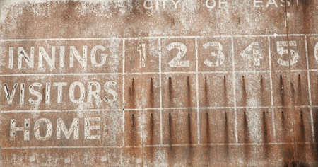 Old faded baseball scoreboard vintage rusty background Stock Photo - 2801770