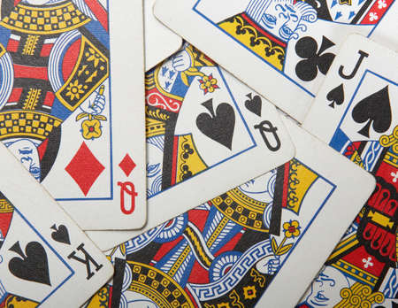Playing cards background of face cards various suits Stock Photo - 2831576