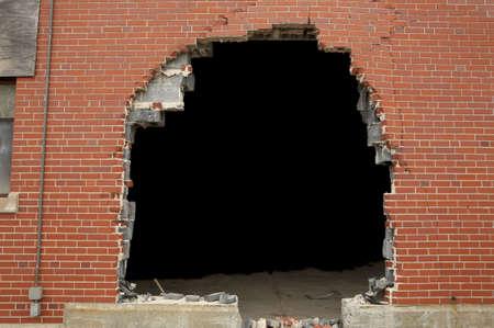 고해상도 깨진 벽돌 벽 배경과 copyspace