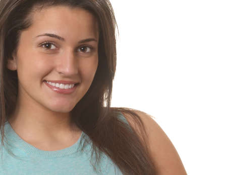 Portrait of beautiful young woman smiling looking at camera Stock Photo - 2886167