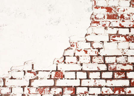 Old red and white brick wall background 免版税图像