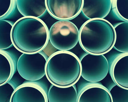 Abstract background of PVC tubes on construction site