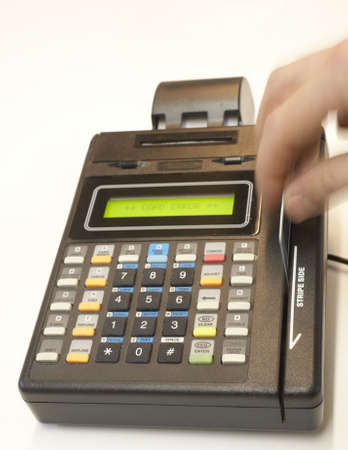swipe: Credit card point of sale terminal swipe