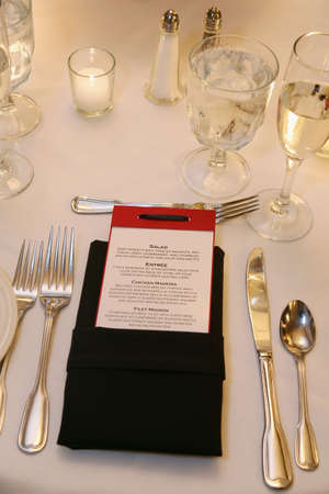 Table set for an event party or  reception Stock Photo - 3688426