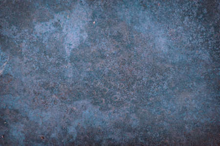Old blue rust grunge abstract background texture