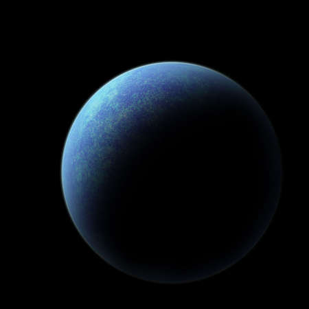 outerspace: Planet earth on black background with copyspace Stock Photo