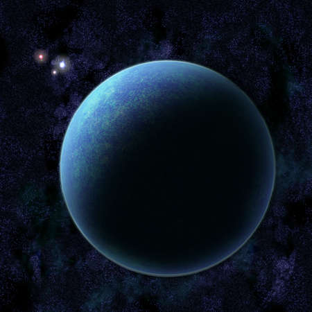 outerspace: Illustration of planet Earth in star field