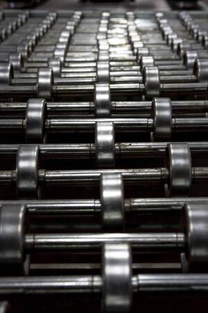 Old rusty metal bearings
