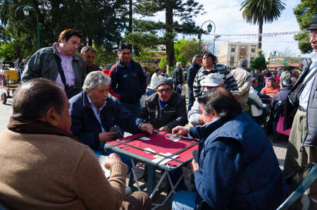 valparaiso: Men Gambling after work in Valparaiso, Chile Editorial