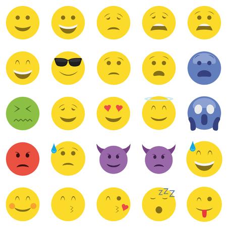 Set of twenty five emoticons.