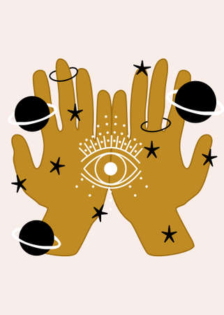 hand and celestial elements