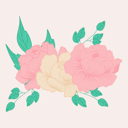vector illustration with peony composition Ilustrace