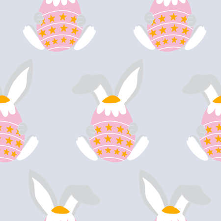 easter egg with bunny years, seamless pattern