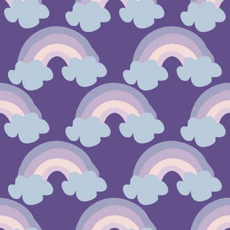 cute colorful rainbow, seamless pattern design
