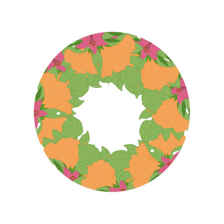 Tropical vector frame, perfect to use on the web or in print for invitations