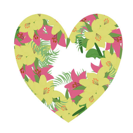 Tropical vector frame Ilustrace