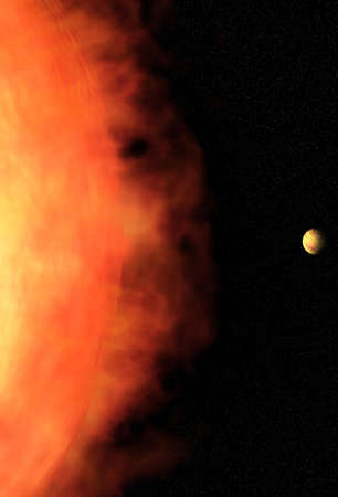 infernal: Sun and planet Stock Photo