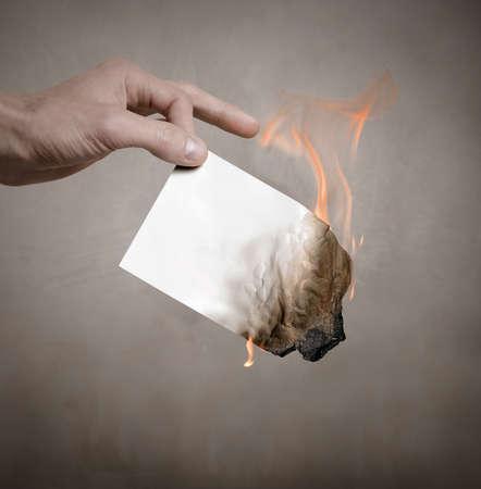 burn: Burning paper