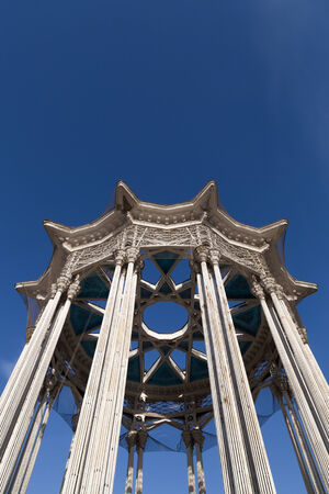 socialist: architectural columns of the socialist era in Moscow