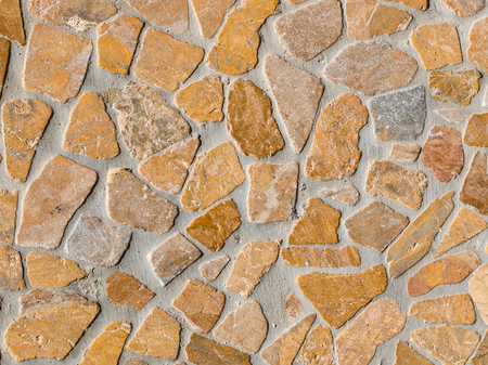 beautiful track from mramoranogo stone with wide joints in country style Stock Photo