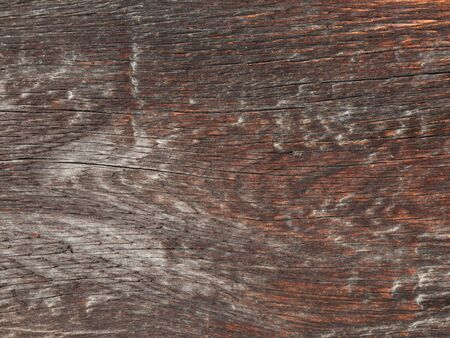 sediments: old rough brown wooden board, bleached by time and street sediments