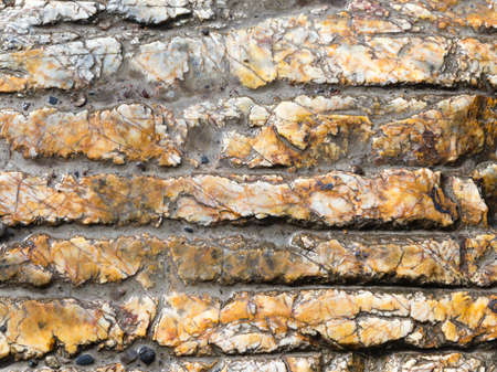 veined: old wet beige marble veined with slotted strips Stock Photo