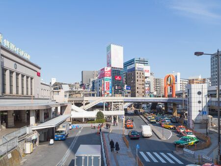multilevel: Tokyo - February 4, 2015: Complex multi-level city streets crossing roads and junctions February 4, 2015, Tokyo, Japan