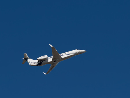 legacy: Sheremetyevo - March 14, 2015: Aircraft Legacy 600, Embraer, takes off at Sheremetyevo Airport on a background of bright blue sky March 14, 2015, Sheremetyevo, Moscow Region, Russia Editorial
