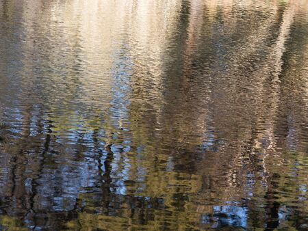 green brown: blue, green, brown and beige natural blurred abstract reflections Stock Photo