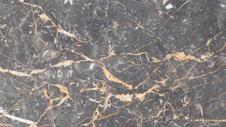 テクスチャ暗い灰色美しい大理石天然石クリスタルと光の縞が点在しています。