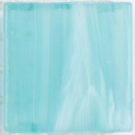 matte: beautiful little square matte bright turquoise glass mosaic with light blurred stripes