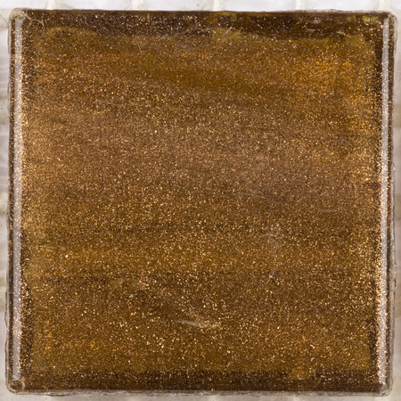 aventurine: beautiful brown square glass mosaic with patches of brilliant aventurine