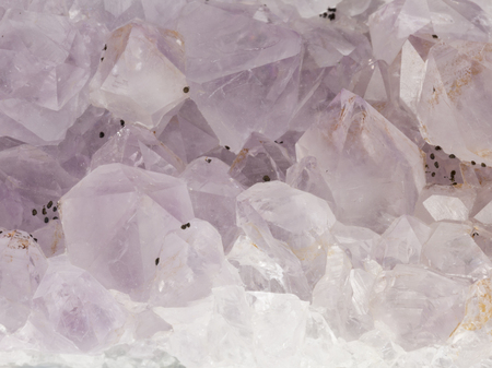 aggregates: unusual transparent purple crystal natural amethyst with a beautiful shine Editorial
